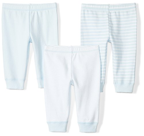 (Moon and Back Baby Set of 3 Organic Pants, Blue Sky, 12 Months)
