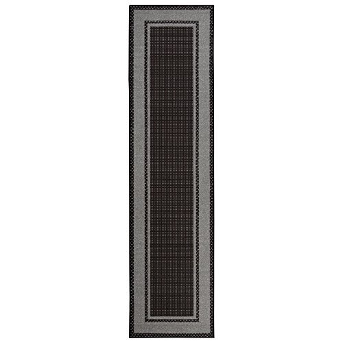 Sweet Home Stores Clifton Collection Black Bordered Design Runner Rug by Sweet Home Stores