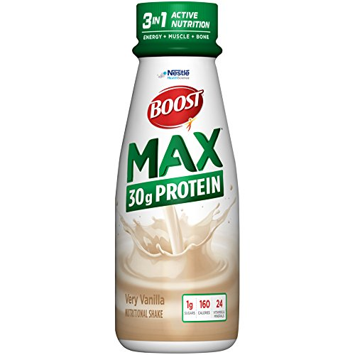 Boost Max Protein Drink, Very Vanilla, 11 fl oz bottle, 12 Pack (Best High Protein Drink For Elderly)