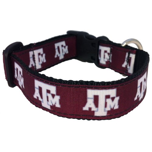 NCAA Texas A&M Aggies Dog Collar, Maroon, X-Small