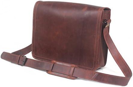 08cc0bb5440d Leather Castle Genuine Leather Messenger Bag/Shoulder Bag/ 15.6 Inch Laptop  Crossbody Bag/ (Brown2)