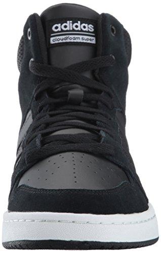 Uomo Adidas Cf Super Cerchi Metà Scarpa Da Basket Nero / Nero / Cristallo Bianco