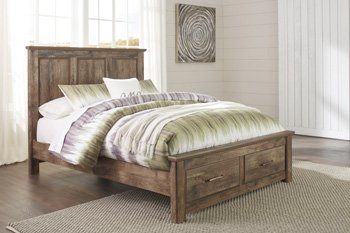 Blaneville Platform Rails Brown/Queen/King/Casual by Ashley Furniture