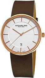 Stuhrling Original Men's 244.33452 Classic Ascot Fairmount Swiss Quartz Date Ultra Slim Rose Tone Watch