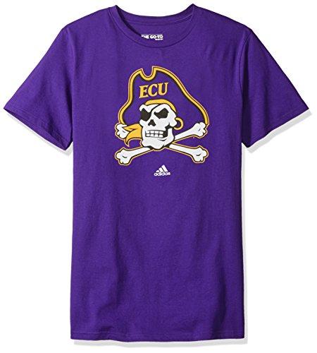 Addidas NCAA Men's East Carolina Pirates Primary Logo Short Sleeve (Ecu Pirates)