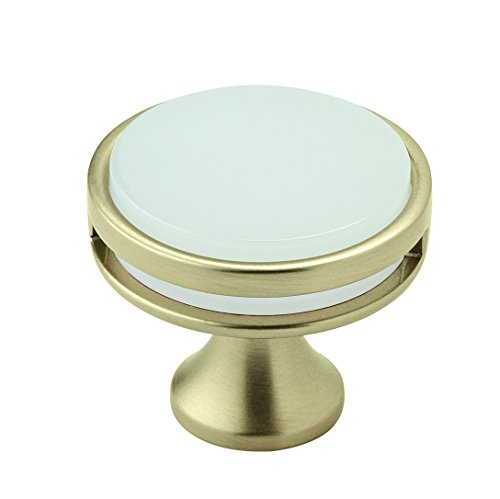 Amerock BP36608BBZFA Oberon 1-3/8 in (35 mm) Diameter Golden Champagne/Frosted Cabinet Knob (Knobs Cabinet Drawer Frosted)