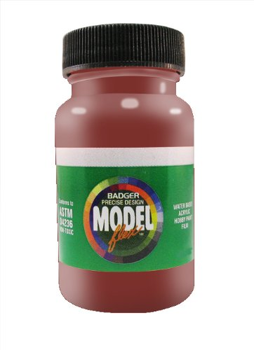 Badger Air-Brush Co. 2-Ounce Modelflex Railroad Airbrush Ready Water Based Acrylic Paint, Light Tuscan Oxide (Tuscan Six Light)