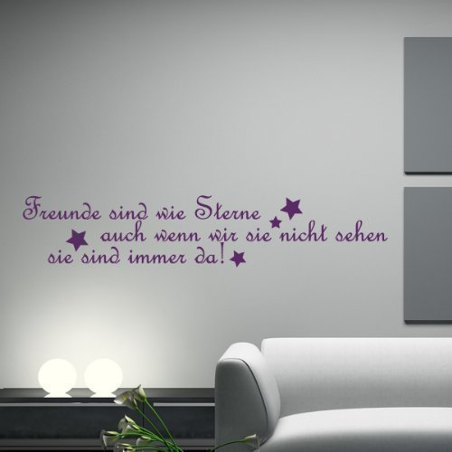 your design - Tatuaje de Pared con Lema - Amistad - 103 x 20 cm ...