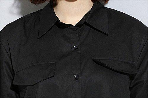 Femme Black Insun Noir Chemisier 96 Zxw0qH57Y