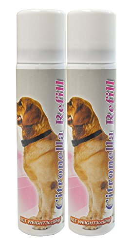Downtown Pet Supply Citronella Refill Canisters to Control Dog Barking, No Bark, Anti Bark Collar - 3 oz - Two Pack
