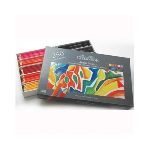 Cretacolor Artist Studio Box of 250 Colored Pencils Class Pack for Adult Coloring Book Craze by Cretacolor