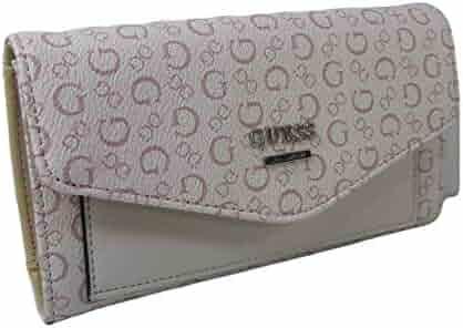 50e4364f2 New Guess G Logo Tri-Fold Wallet Purse Hand Bag Light Rose Pink Tan Biege