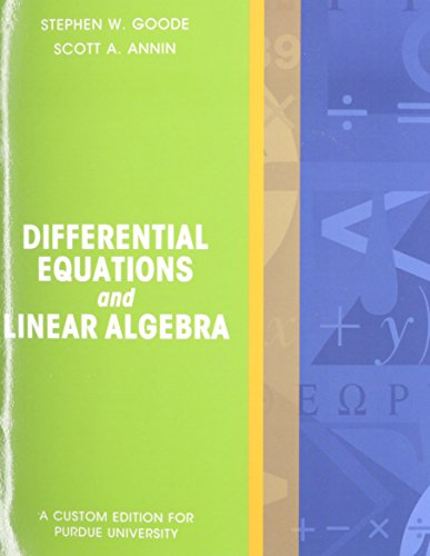 Differential Equations and Linear Algebra Package Purdue University