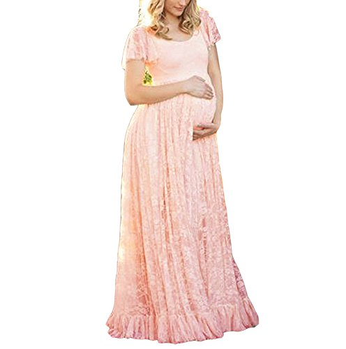 di Rosa a incinta abito chiffon maternità corte in corte maniche elegante a da premaman Abito fotografia di maniche abito UCqwX45UxY