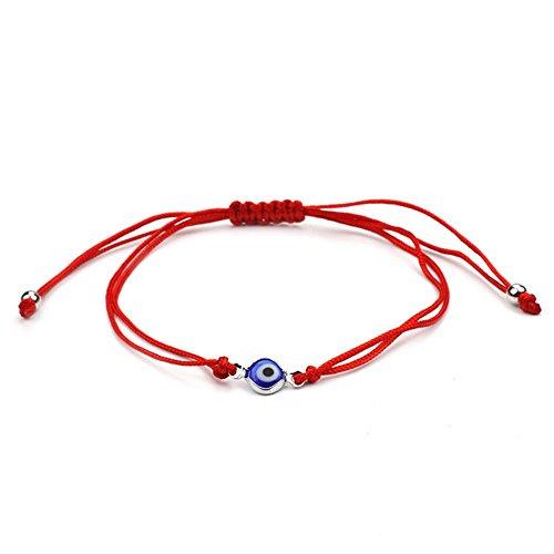2pcs Evil Eye Adjustable Bracelet Kabbalah String Bracelet/BFF Bracelet (Bule Eye) ()