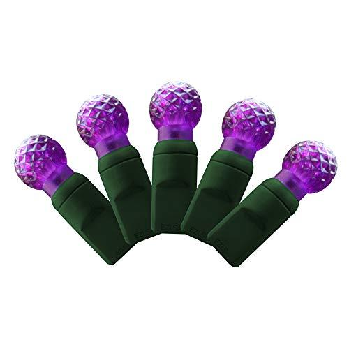 Strings Light G12 Led (G12 Purple LED string lights 25ft (50bulbs) - Berry G12 christmas lights)