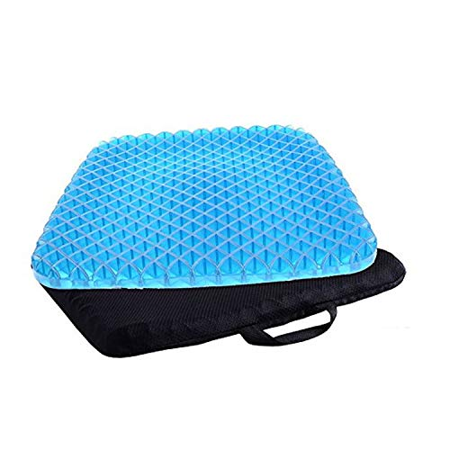 - Honeycomb Sitting Cushion with Non-Slip Cover, Breathable Honeycomb Design Absorbs Pressure Points for Tailbone & Sciatica Pain Relief; Office Chair, Car Seat,Wheelchair