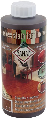 SamaN TEW-212-12 12-Ounce Interior Water Based Stain for Fine Wood, Antique (Water Based Wood Stain)
