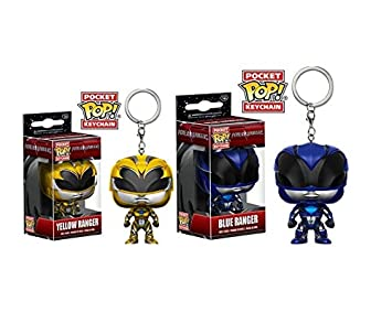 Juego de llaveros Funko Pop, figura: Power Rangers blau ...