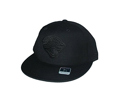 - Reebok Jacksonville Jaguars Fitted Size 7 3/8 NFL Authentic All Black Hat Cap