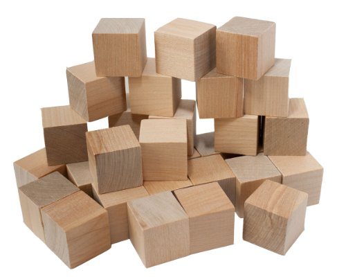 Amazoncom 1 Natural Unfinished Hardwood Craft Wood Blocks By