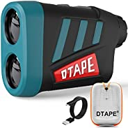 DTAPE DT600 Professional Precision Laser Golf Rangefinder 656 yd, ±0.55 Yard Accuracy, 6X Magnification, Dista