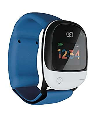 KiGO NEW Dutch design Lightest/ Smallest, Waterproof wearable GPS tracking watch for kids with integrated cellular 2G/3G and WiFi
