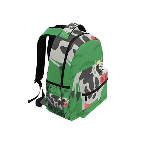 DXG1 Zaino Donna Uomini Ragazzo Ragazzo Scuola Borsa Verde Mucca Libro Daypack Viaggio College Spalla Grande Capacità 40… 2 spesavip