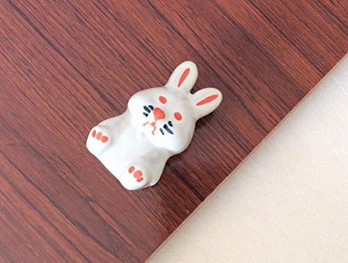 Knob Animals - Rabbit Dresser Knobs Kids Ceramic Drawer Handles/Animal Cabinet Handle Knob Kitchen Cupboard Handle Children Hardware
