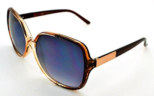 Vox tendance classique haute qualité pour femme Mode Hot Lunettes de soleil W/étui microfibre gratuit Brown Speckled Frame - Smoke Lens