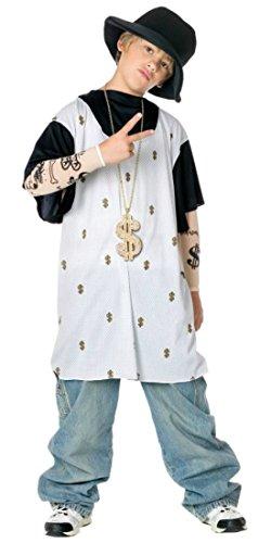Rapsta Costume (Boys Rapsta Kids Child Fancy Dress Party Halloween Costume, L)