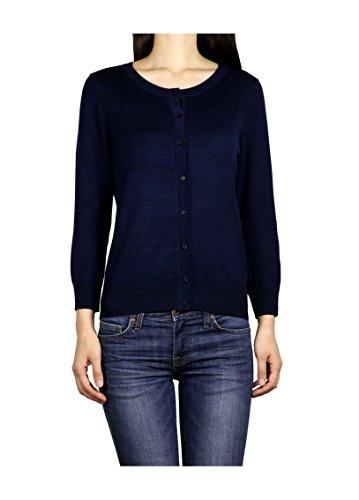 lightweight-soft-and-comfortable-premium-womens-3-4-sleeves-designer-cardigan-medium-navy