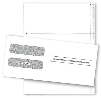 2019 3 UP Laser W-2 Forms, Employee Copy, Horizontal Format (100 Blank Sheets, Instructions Printed on The Back & Envelopes) by Next Day Labels