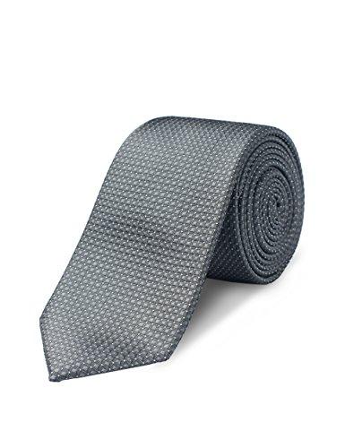Origin Ties Mens Fashion Pin Dot Dark Grey Handmade 100% Silk 2.5