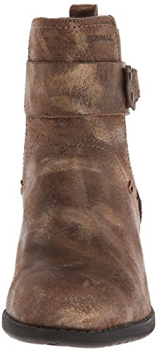 Brown Women's Boot Gold Pull Shiloh Merrell 68qIp
