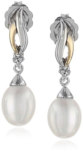 Sterling Freshwater Cultured Diamond Accent Earrings