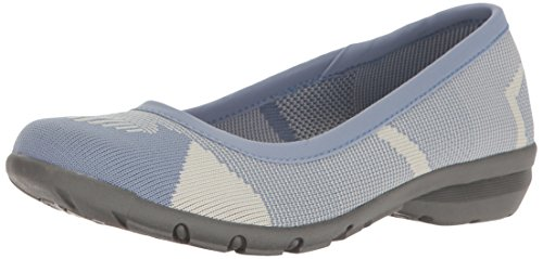 Skechers Womens Career-Quick Comfort Ballet Flat Blue/Grey