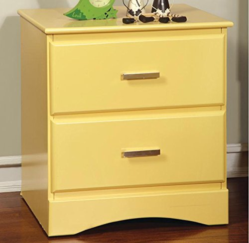 Furniture of America Colorpop 2-drawer Youth Nightstand (Yellow) Model:
