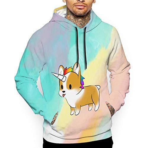 - Go KJ Unisex Cute Fancy Unicorgi Hoodies Casual Pullover Hood Jackets Sweatshirt