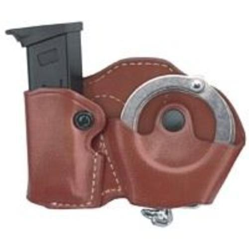 (Gould & Goodrich B841-4LH Gold Line Cuff And Mag Case With Belt Loops - Left Hand (Black) Fits BERETTA Cougar (all); GLOCK 17, 19, 20, 21, 22, 23, 26, 27,)