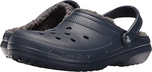 - Crocs Unisex Classic Lined Clog,Navy/Charcoal,5 US Men / 7 US Women