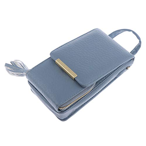 Womens Shoulder Small Cell Crossbody Bag Wallet Purse Prettyia Phone Blue Pouch pd1RTnx