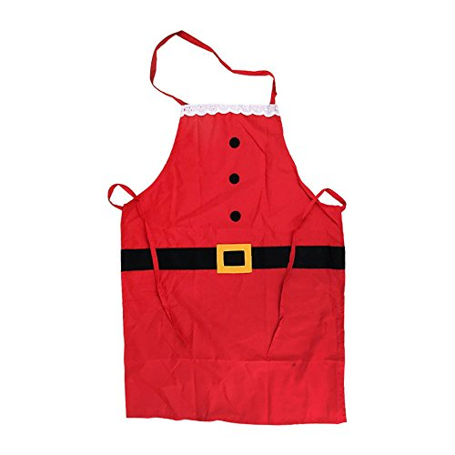 CHOP MALL Kitchen Accessories Christmas Kitchen Santa Red Apron Party Bundle For Holiday Gift Chef's Kitchen Cooking Baking Bib - Macy's Mall
