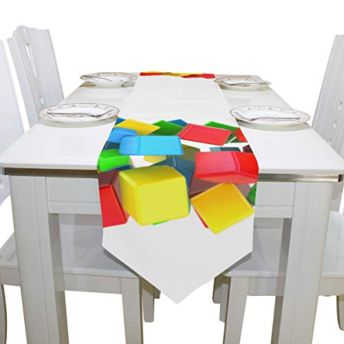 Menedo Table Cover English Letter O Shaped Particluar Natural Table Runner Farm Tablecloths for Kitchen Dining Room Decoration Banquet Table Covers Bar Coasters 13x90 Inch -