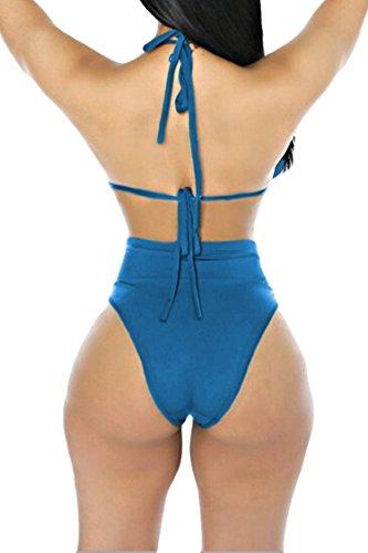 Kisscynest Women S Halter Neck Cut Out Bikini Set Swimwear