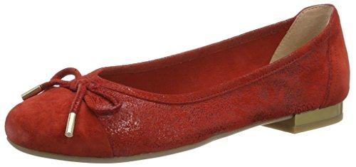 Caprice 22105, Bailarinas para Mujer Rojo (Red Comb)