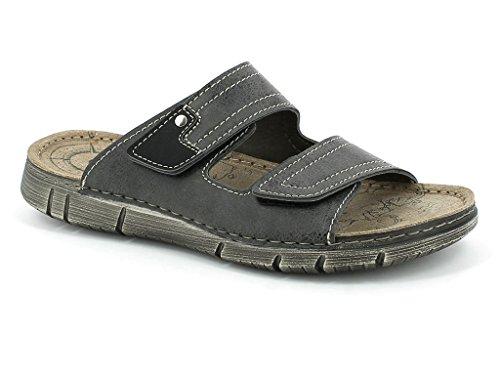 AARZ LONDON Herren Offener Zeh Einfach Sommer Strandspaziergang Jeden Tag Komfort Schlüpfen Beiläufig Flache Sandalen Schuhe Größe Braun