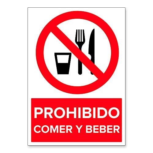 Señal Prohibido Comer y Beber | Señalética en Material ...