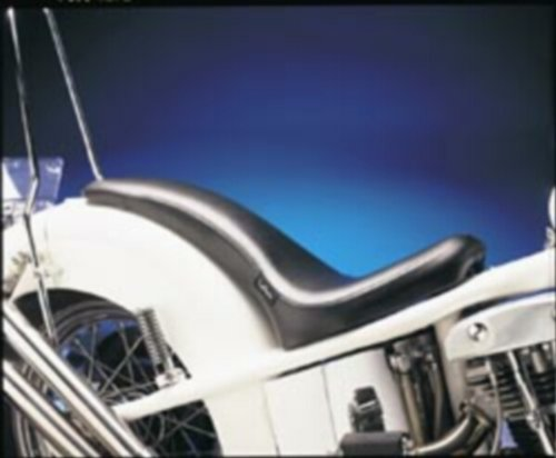 Le Pera King Cobra Full Length Seat Smooth Black for Harley XL883 XL1200 - Le Pera King Cobra Seat