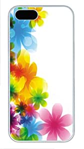 iPhone 5 5S Case Patterns Colorful Flowers PC Custom iPhone 5 5S Case Cover White